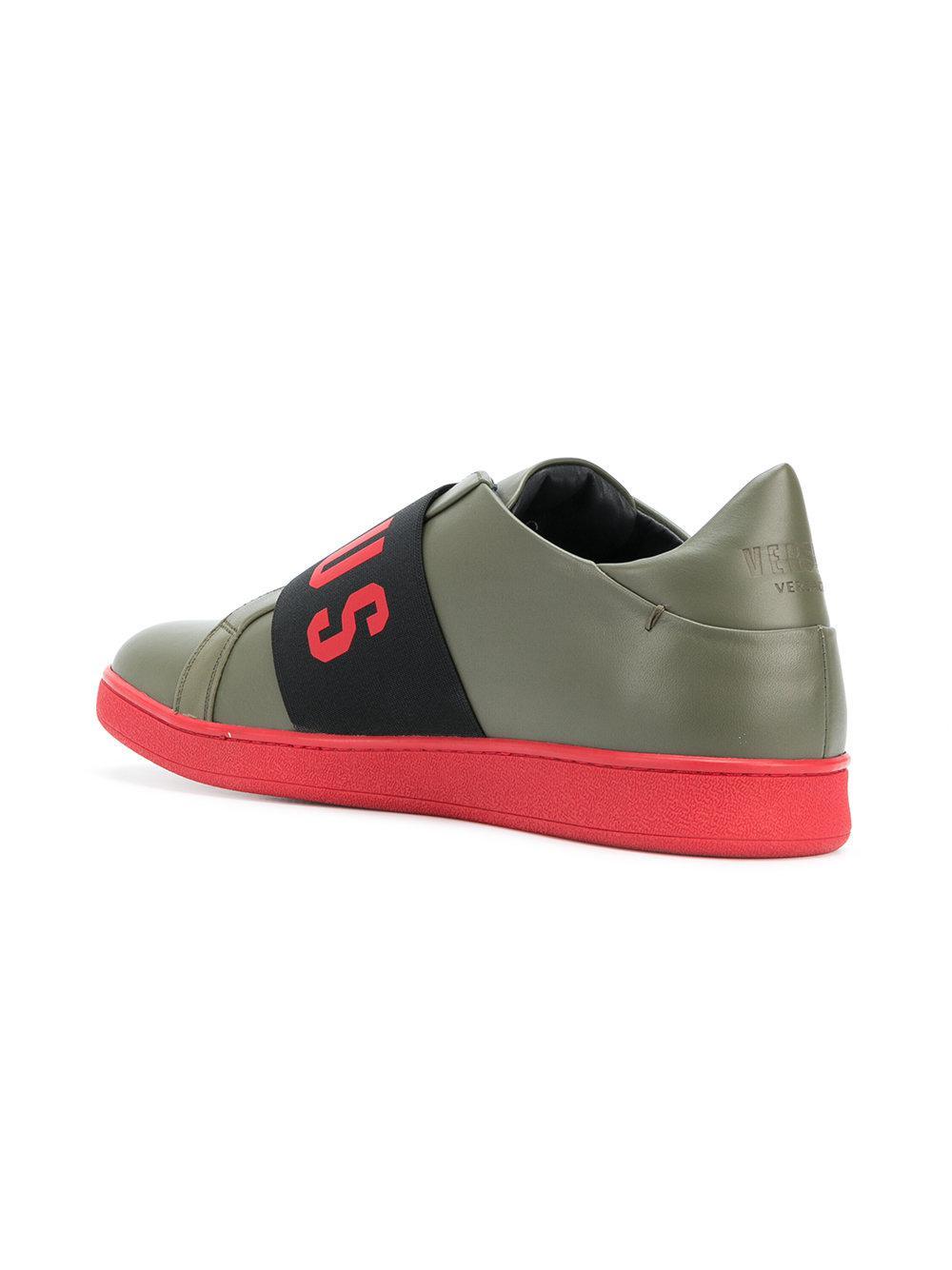 logo strap sneakers - Green Versus hhtwPK5HAA