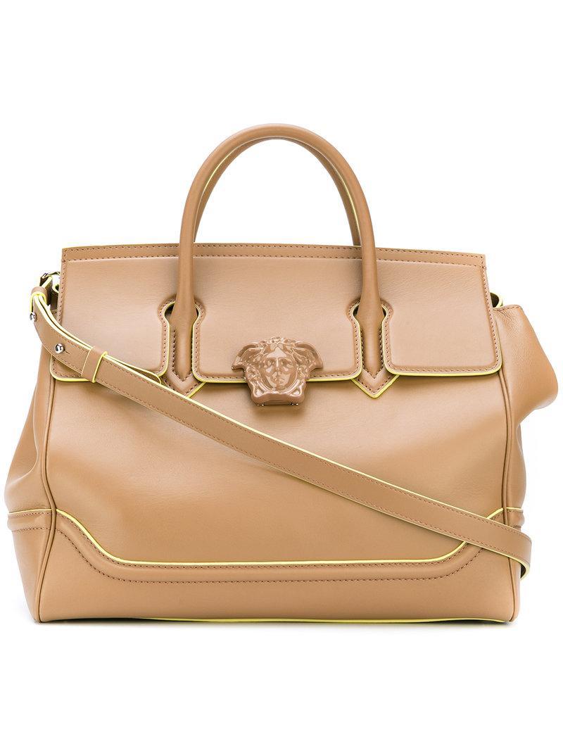 Lyst - Versace Palazzo Empire Tote Bag in Brown 1748c92e1a4f0