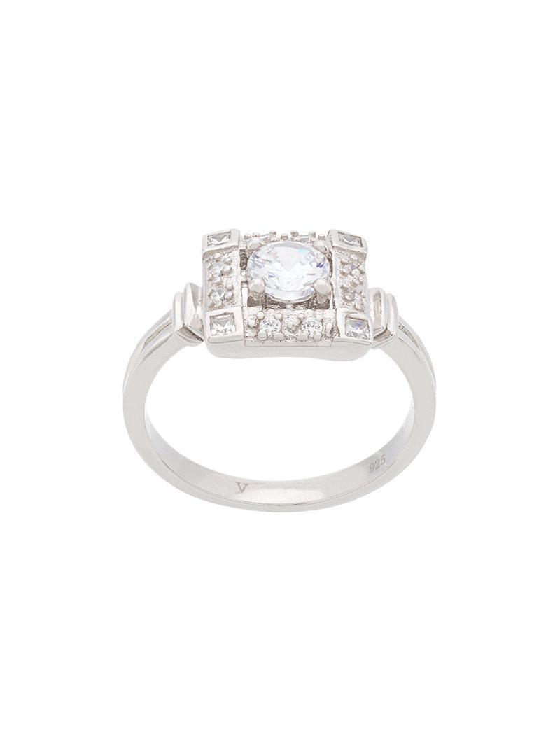 V JEWELLERY Paloma ring - Metallic qUYhehyDc