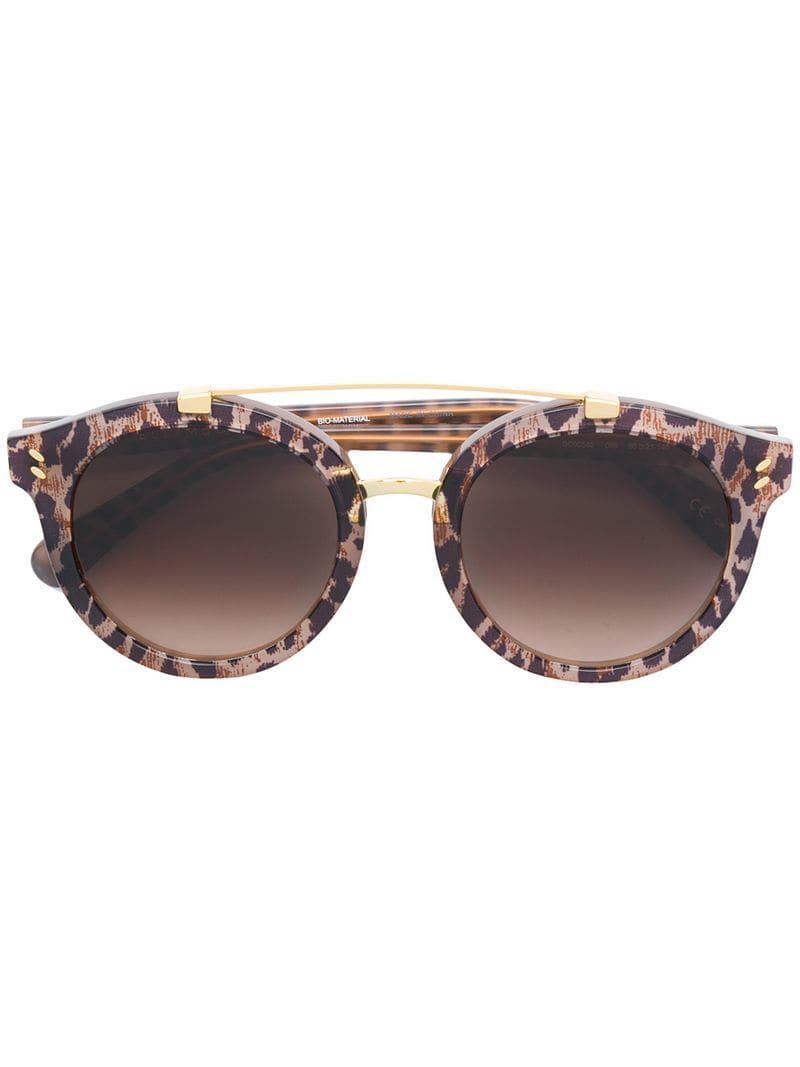 d9464b17863 Stella McCartney Leopard Print Sunglasses in Brown - Lyst