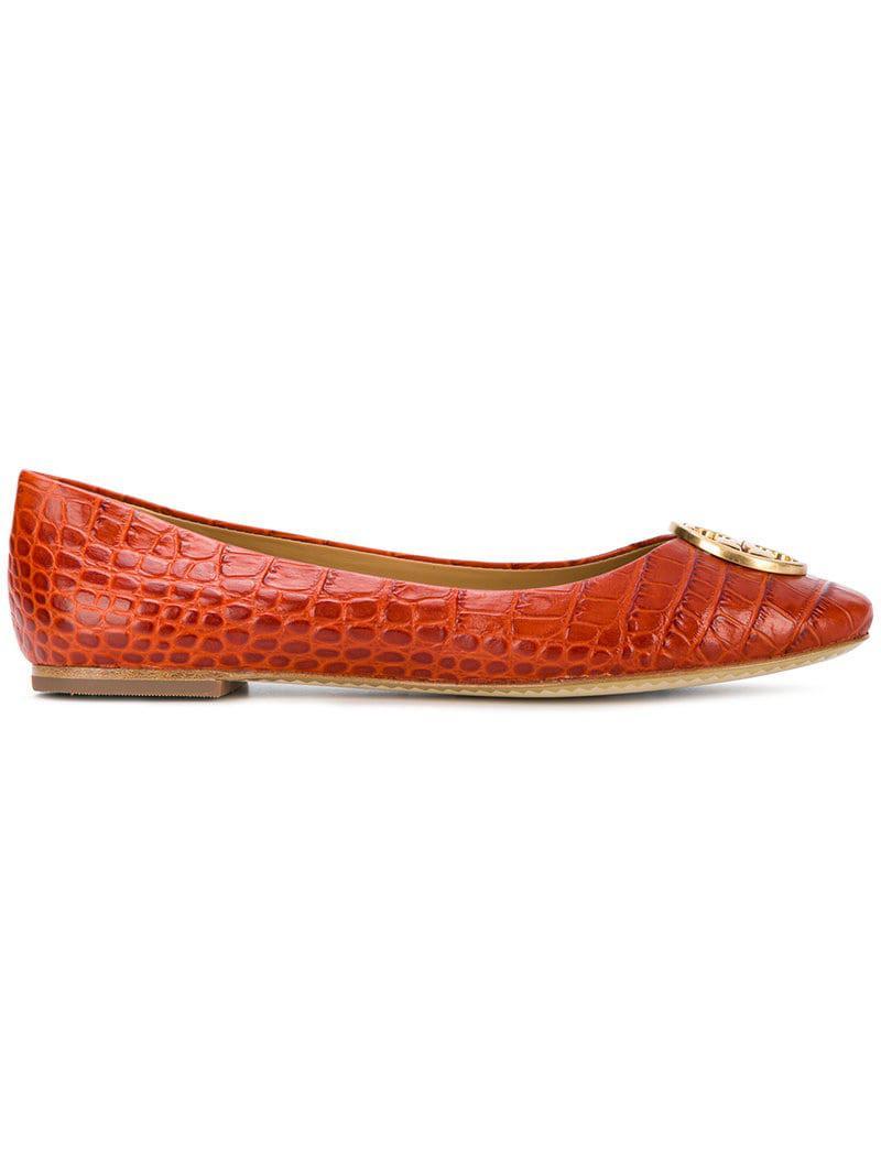52926f7495ff95 Lyst - Tory Burch Ballerina Flats in Yellow