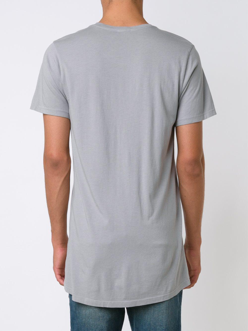 En Noir Oversized T Shirt In Gray For Men Lyst Grey View Fullscreen