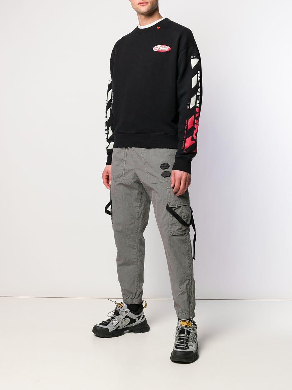 c5d3cf7e8a08 Lyst - Off-White c o Virgil Abloh Arrow Print Sweatshirt in Black for Men -  Save 35%