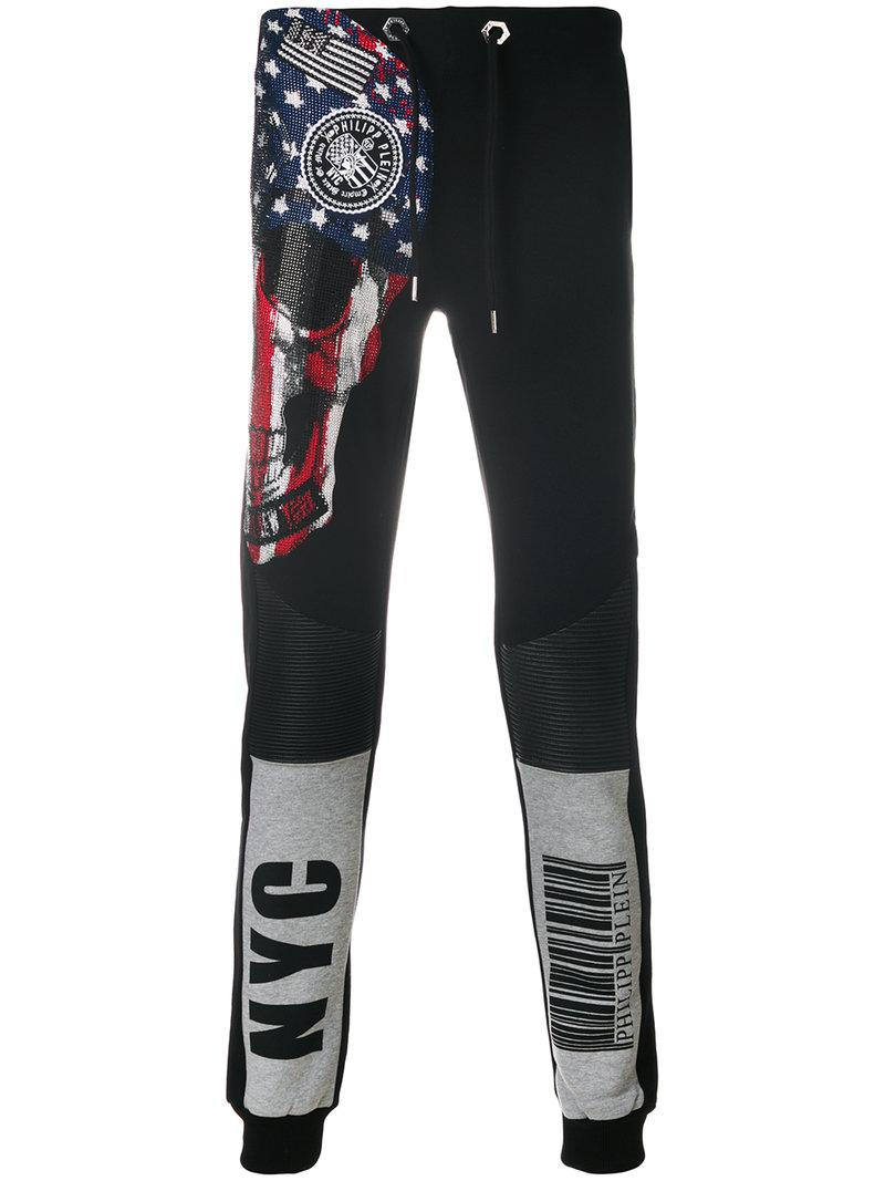 embellished skull track pants - Black Philipp Plein Recommend For Sale Sale Fast Delivery Discount Cost Sale Newest Marketable Cheap Online veIrU