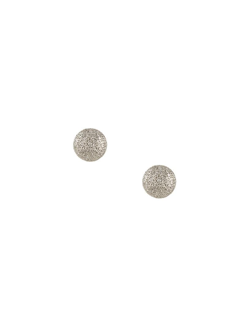 Carolina Bucci small Florentine studs earrings - Metallic 0WZHE