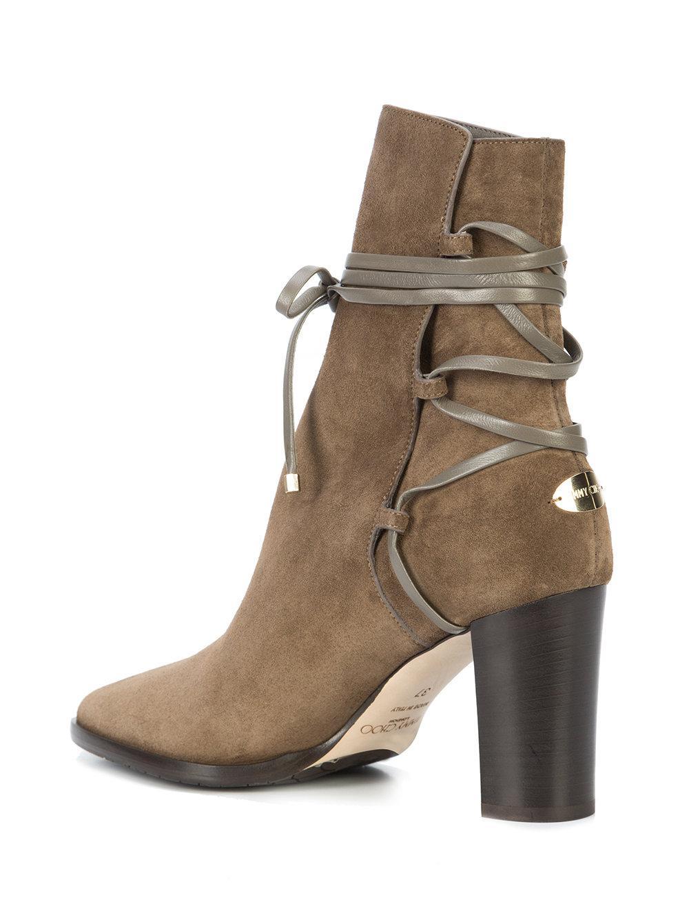 530f2f05ca47 Lyst - Jimmy Choo Hampton 80 Boots in Natural