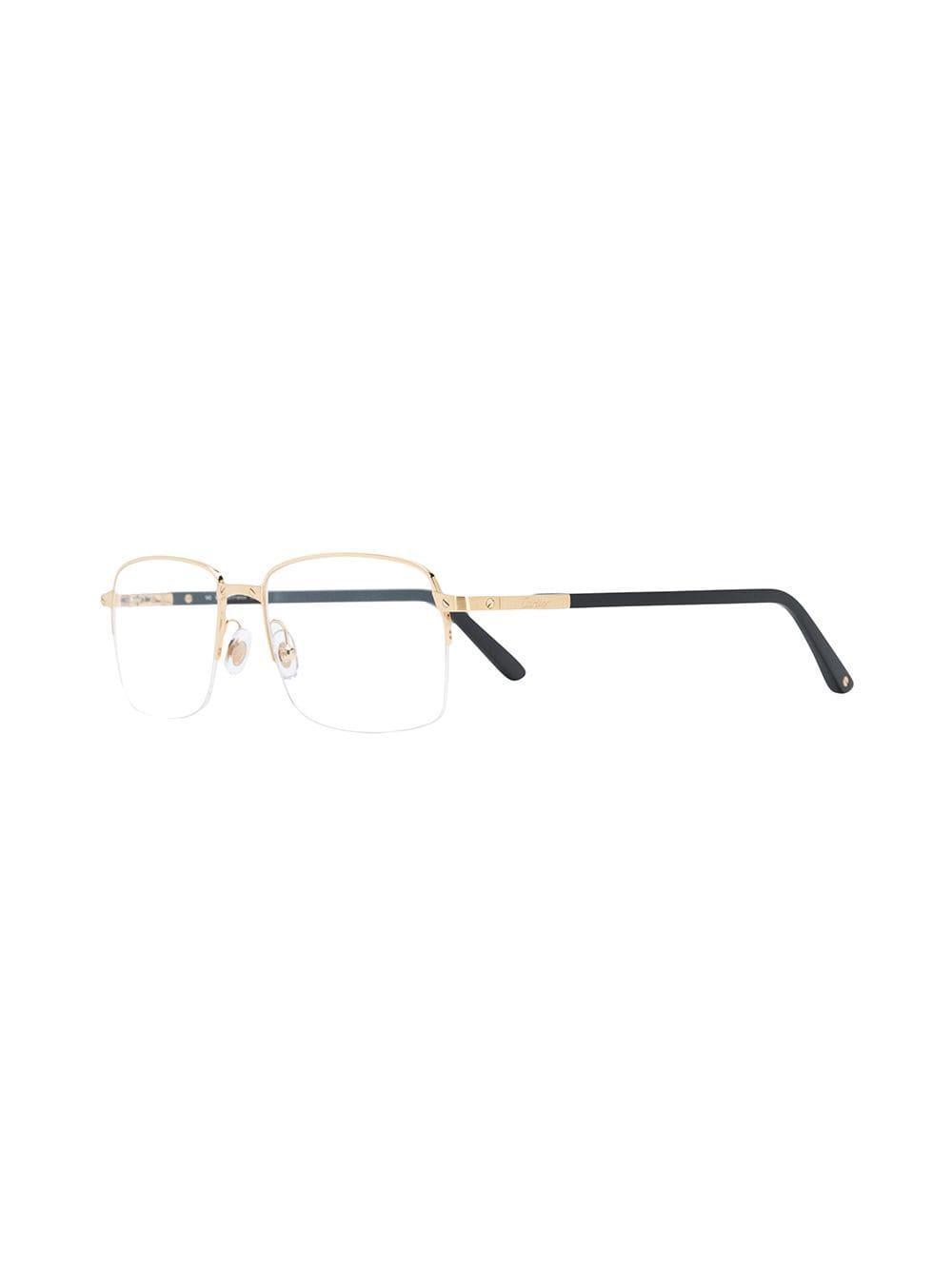 d46c68ce5e Cartier Santos De Glasses in Metallic for Men - Lyst