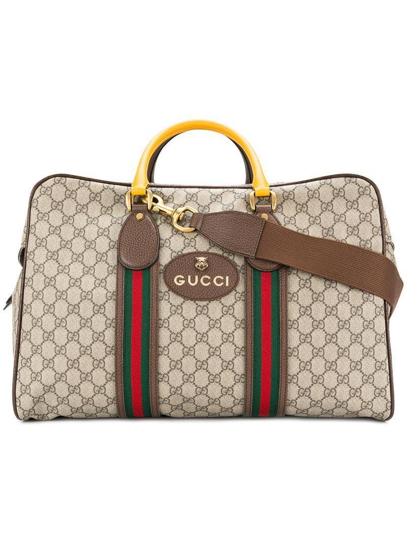 902fc426d2 Sac de voyage Suprême GG souple avec bande Web Gucci pour homme - Lyst
