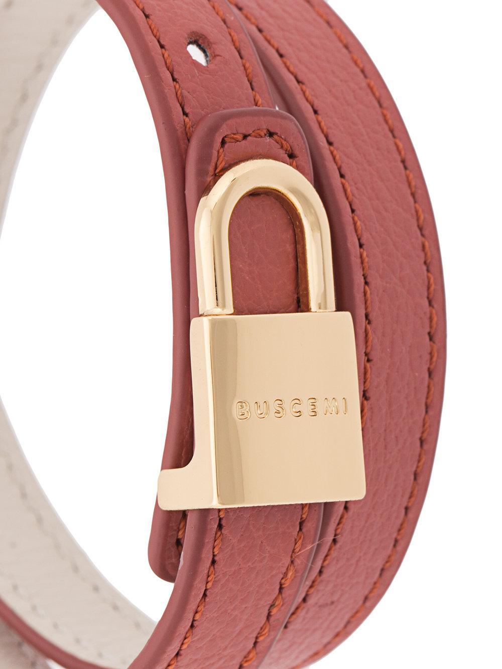 Buscemi wrap around lock bracelet - Green Zqzso