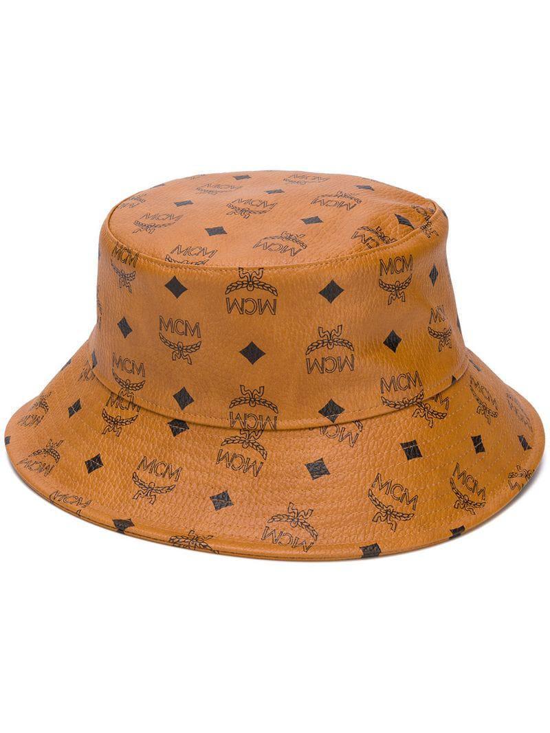 MCM - Brown Logo Print Bucket Hat - Lyst. View fullscreen 08a804ea41ae