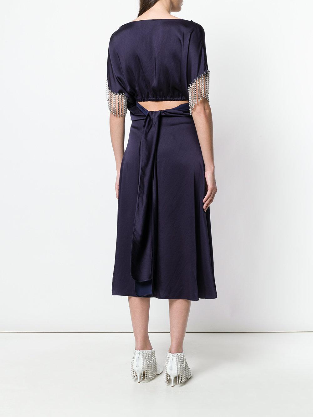 crystal satin dress - Blue Christopher Kane gVodAec5E