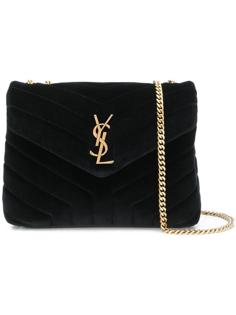 3c6c18a32 Saint Laurent Loulou Shoulder Bag in Black - Lyst