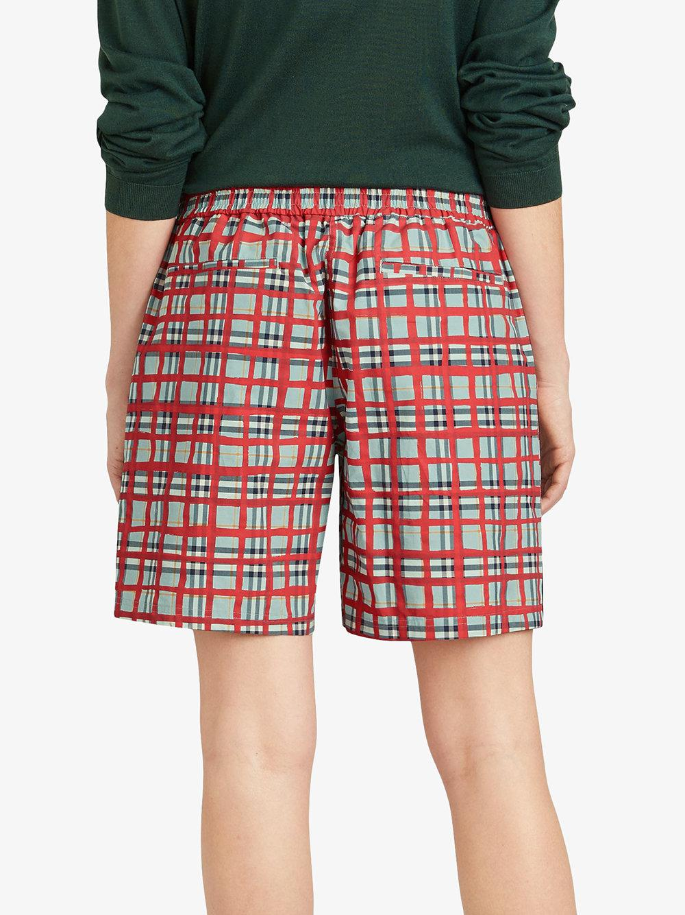 Lyst - Burberry Painted Check Cotton Drawcord Shorts in Blue 98dddcf35f