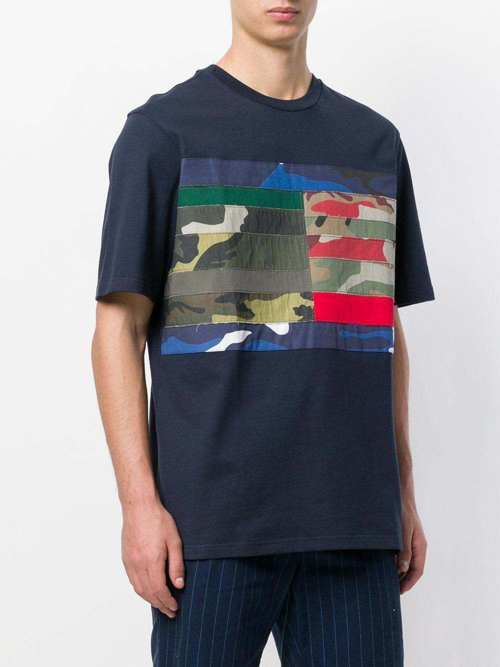 172eaa46d Tommy Hilfiger Camo T-shirt in Blue for Men - Lyst