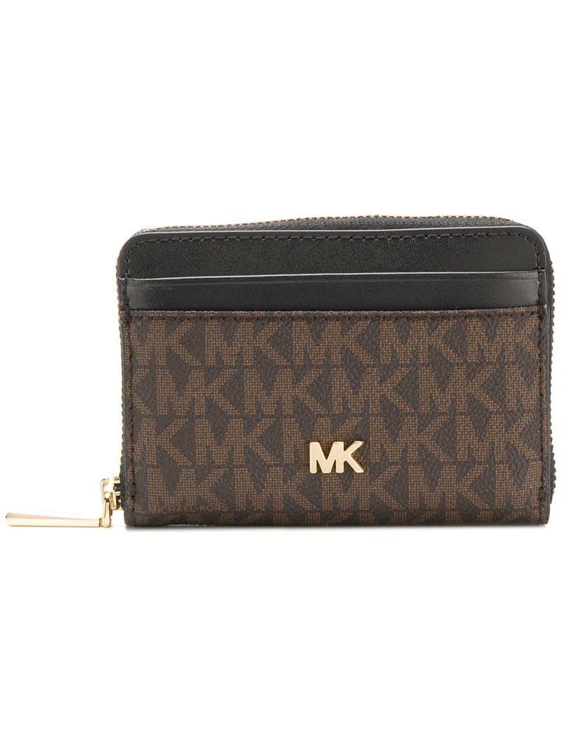 6f4c355121e45f Lyst - MICHAEL Michael Kors Monogram Print Wallet in Brown