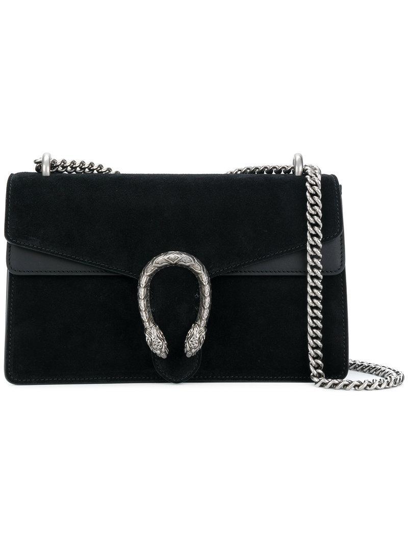 70b393cba5c Lyst - Gucci Dionysus Suede Shoulder Bag in Black