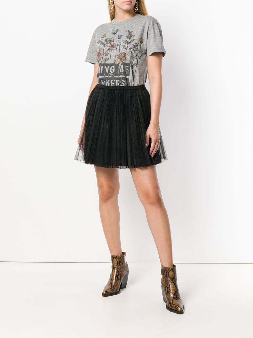 497eea14700 RED Valentino Tulle Mini Skirt in Black - Lyst
