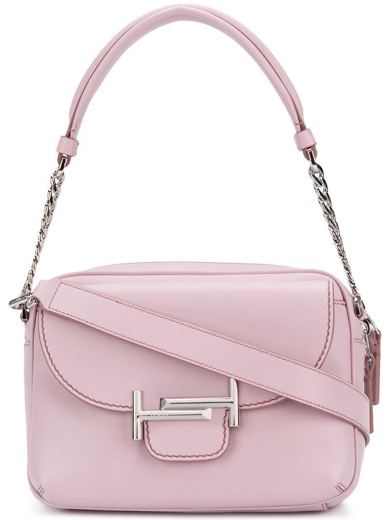 Double T shoulder bag - Pink & Purple Tod's c6EzAM5Bf