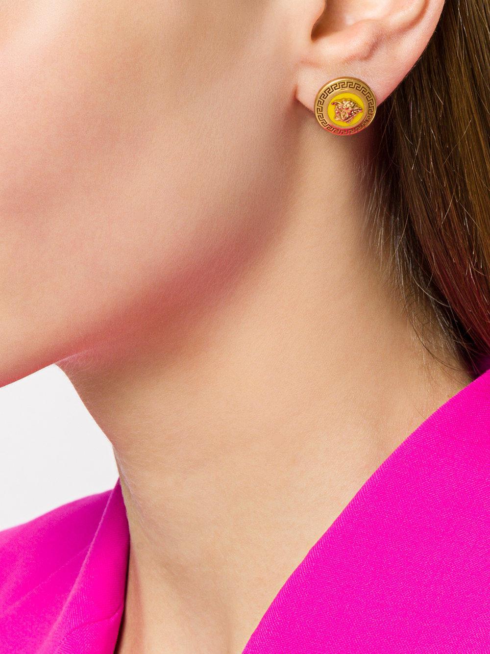 6317def56 Versace Medusa Tribute Stud Earrings in Metallic - Lyst