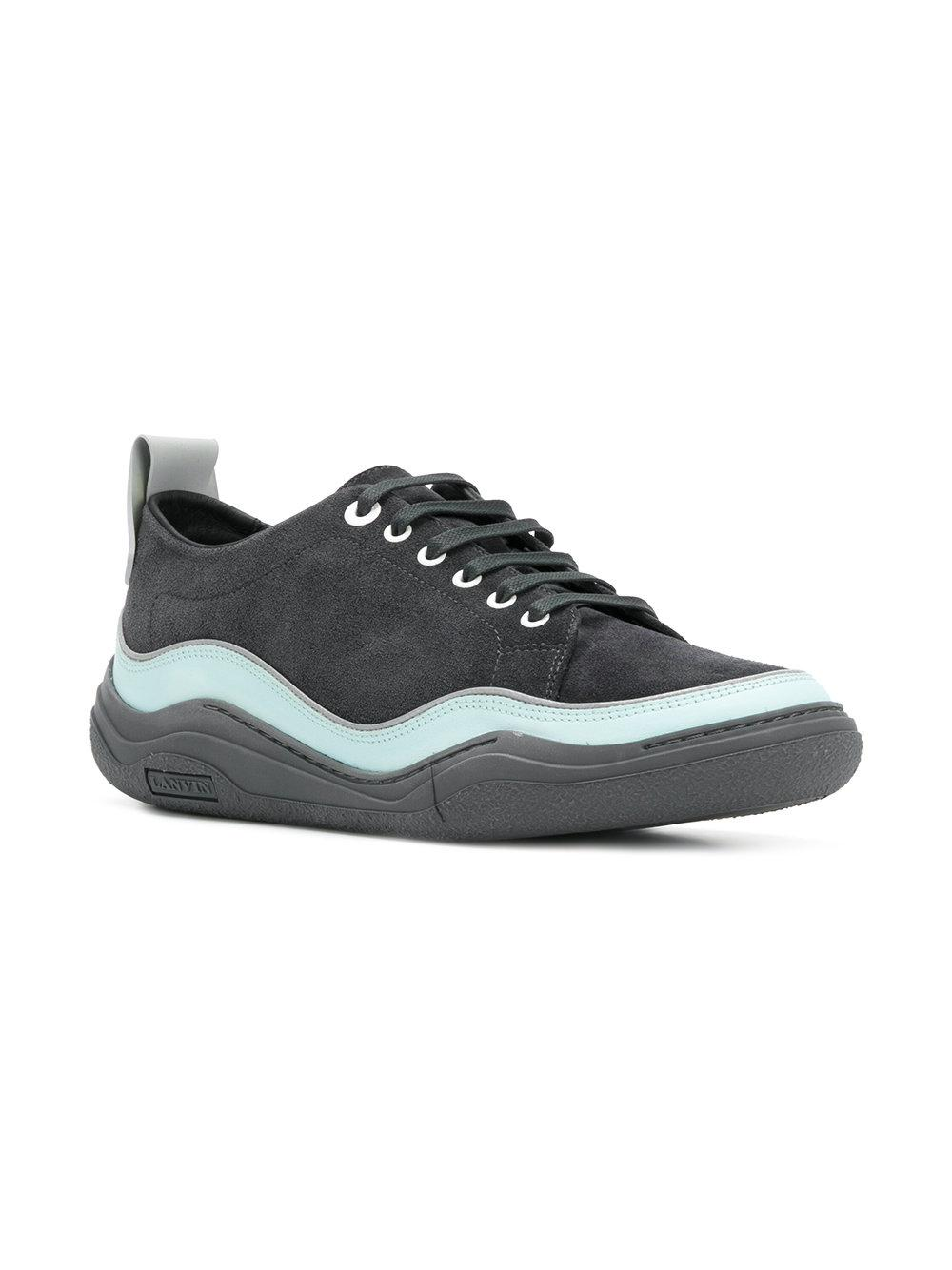 textured runner sneakers - Blue Lanvin