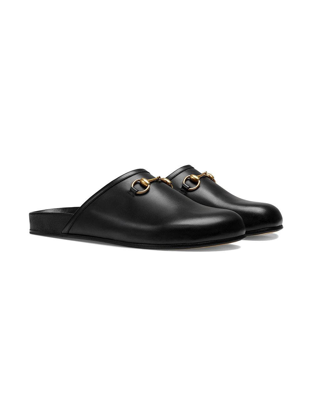 d15e88837bd Lyst - Gucci Horsebit Leather Slippers in Black for Men - Save 26%