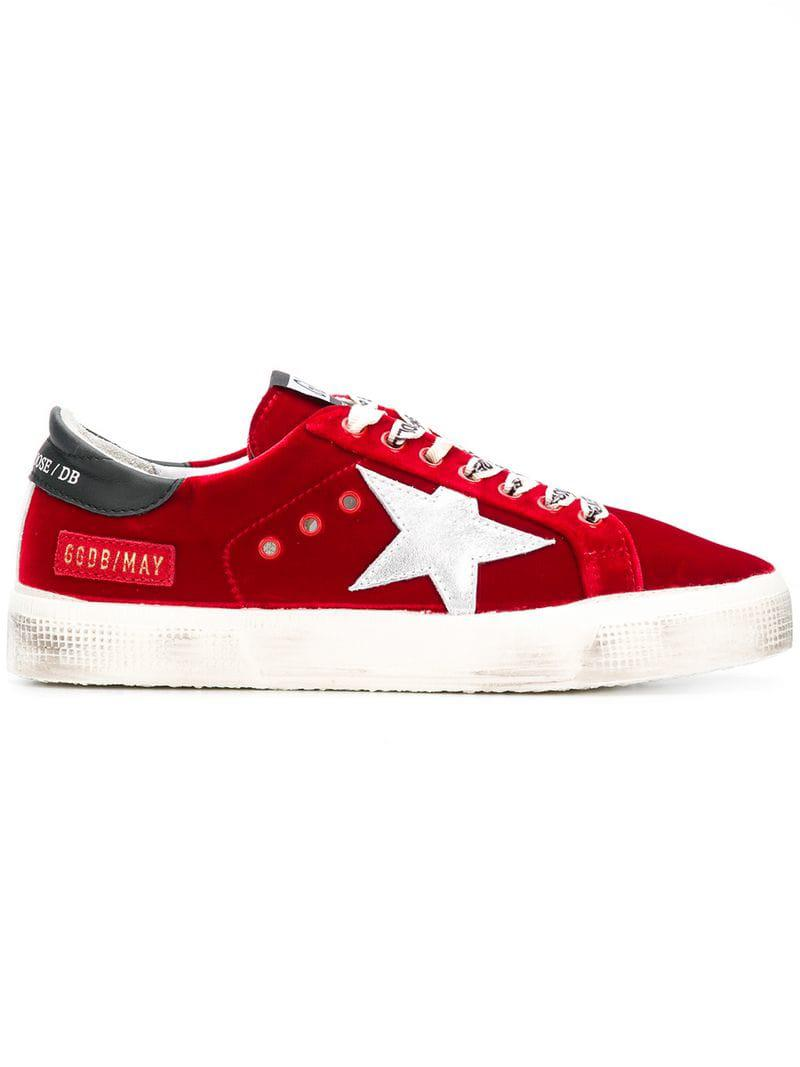 09e4ebe60372 Lyst - Golden Goose Deluxe Brand Superstar Sneakers in Red - Save 35%