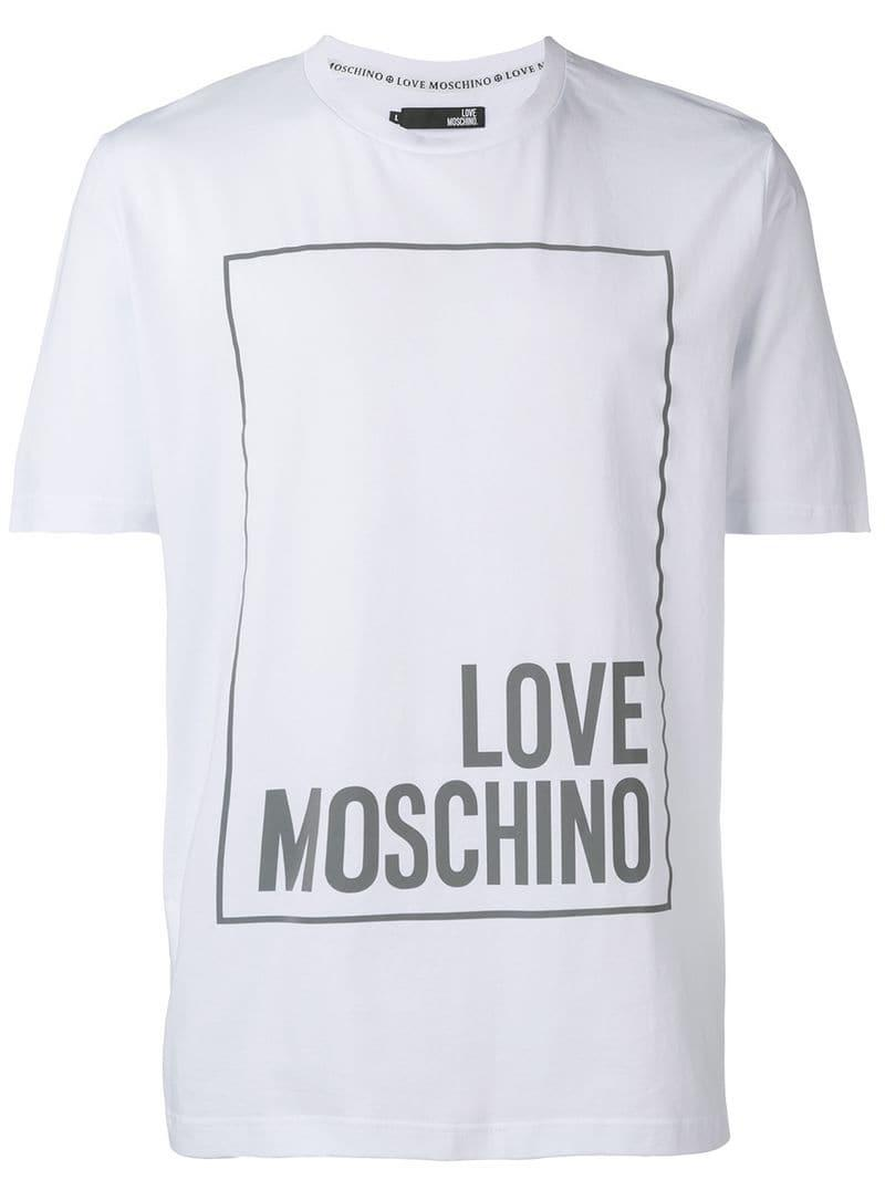 b655103f Love Moschino - White Classic Logo T-shirt for Men - Lyst. View fullscreen