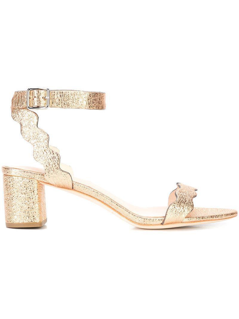 Emi scalloped edge sandals - Pink & Purple Loeffler Randall jOZMCLChDg