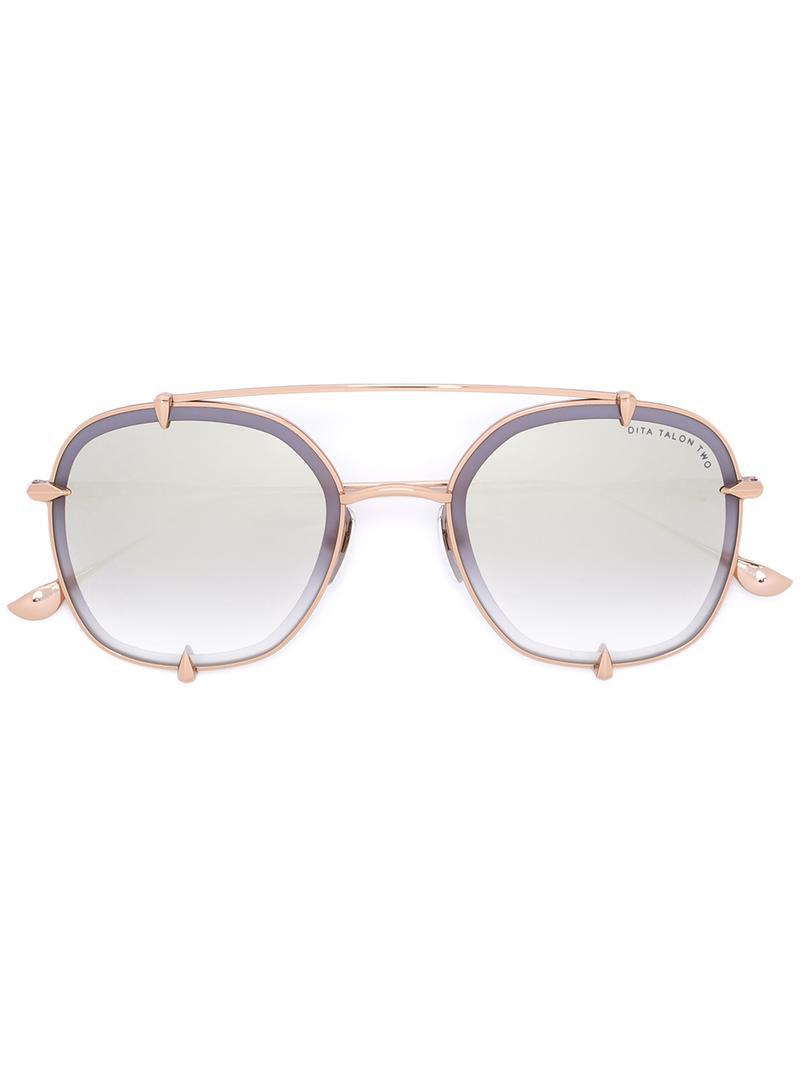 5bd0d2ebe488 Lyst - Dita Eyewear Round Frame Sunglasses in Metallic