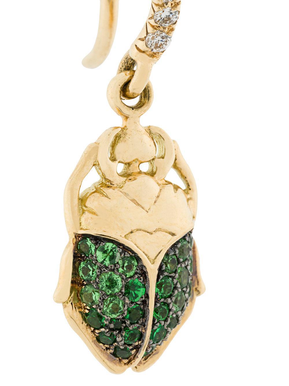 Aurélie Bidermann mini Scarab tsavorite and diamond earring - Metallic n0JZ4D2a
