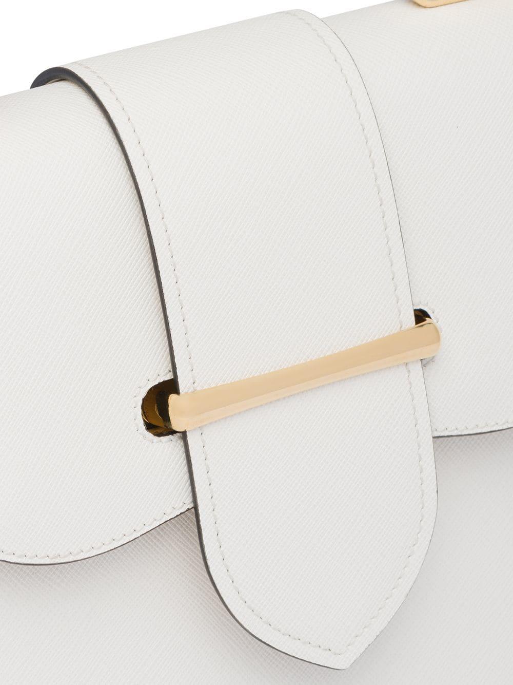 732d5e2664e8 Lyst - Prada Sidonie Medium Saffiano Bag in White