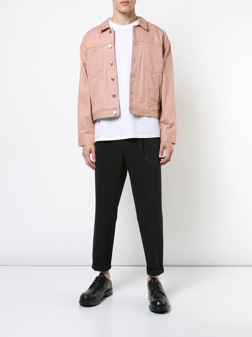 98ef81342 Enfants Riches Deprimes Denim Jacket in Pink for Men - Lyst