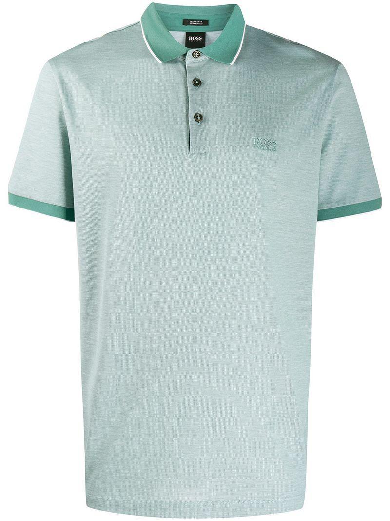 92e1164f6 BOSS - Green Prout Polo Shirt for Men - Lyst. View fullscreen