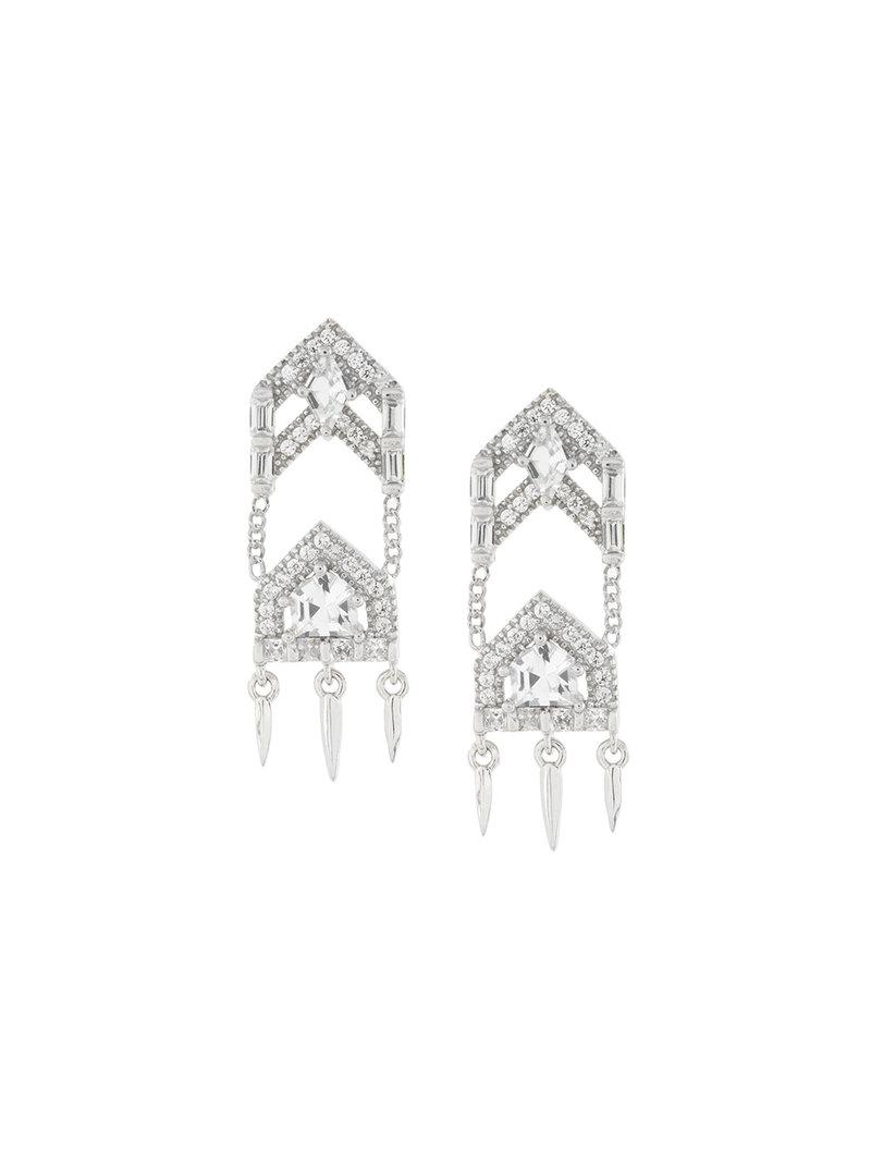 V JEWELLERY Anita earrings - Metallic Ze5sWVTi