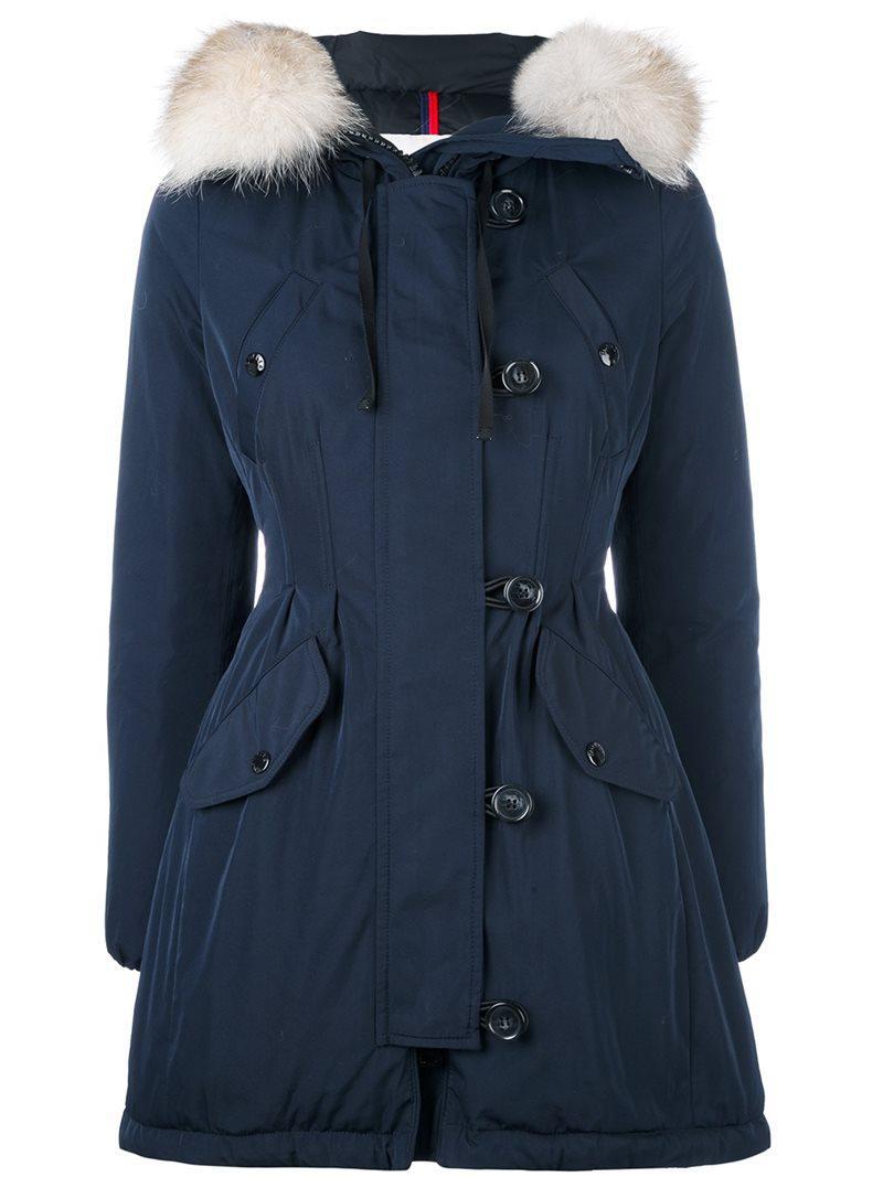 a9d3e2c0f Moncler 'aredhel' Parka Coat in Blue - Lyst