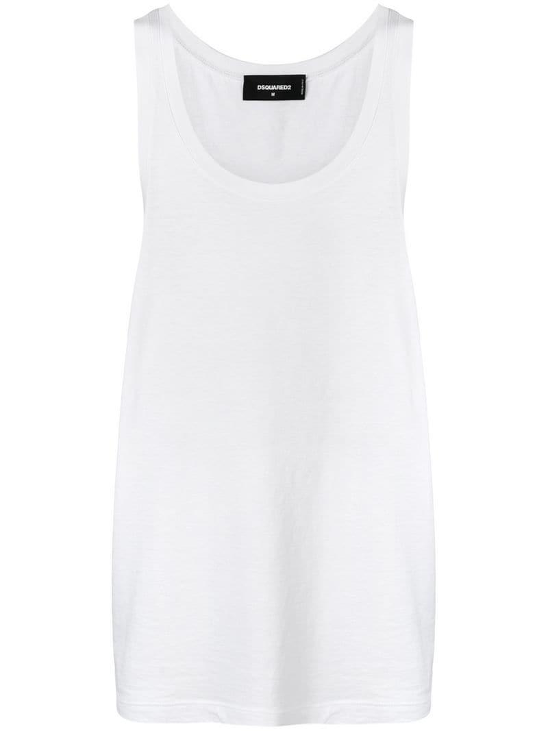 Lyst - Dsquared² Straight-fit Tank T-shirt in White for Men d61c42400