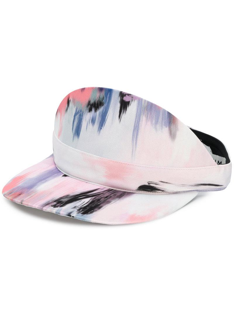 Eugenia Kim Nikki satin print visor Factory Outlet Cheap Price Discount Countdown Package Discounts Clearance Shopping Online BBDVam
