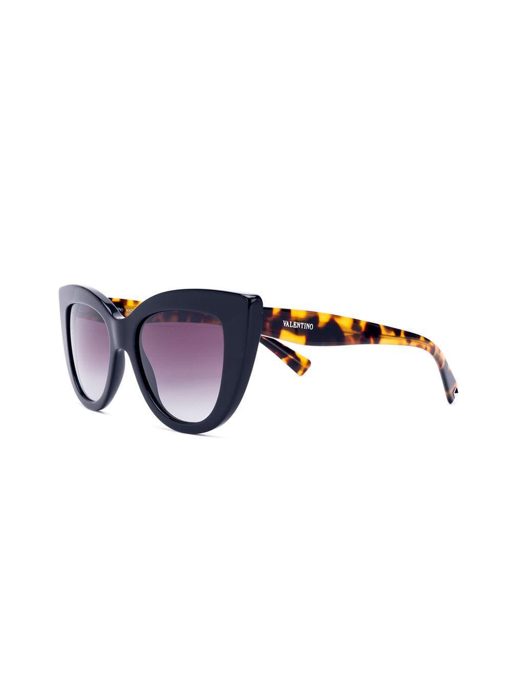 1b941905ad Lyst - Valentino Eyewear Cat Eye Sunglasses in Black