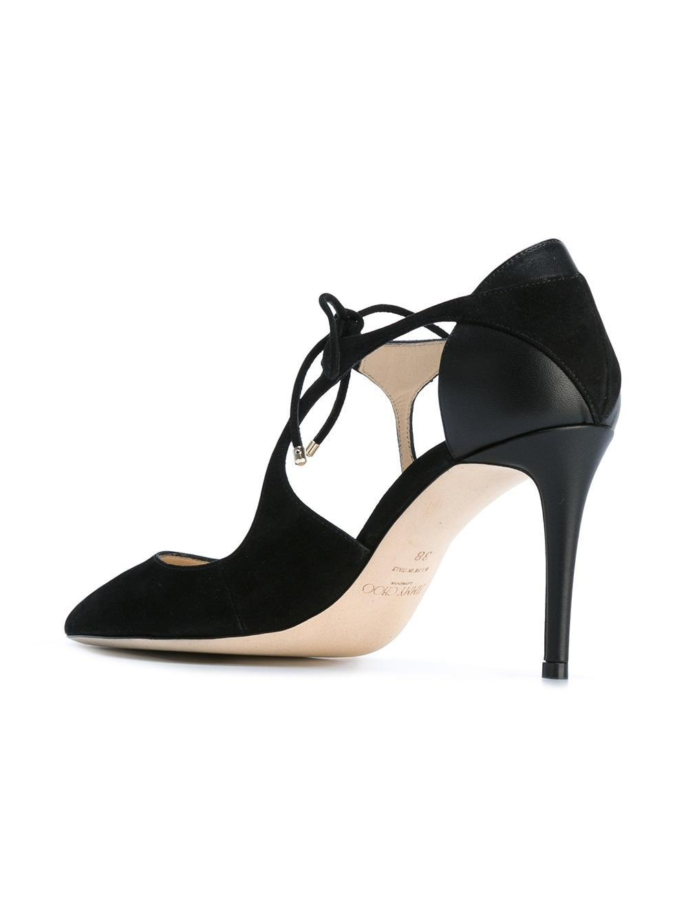 Jimmy choo Mesh & Leather Vanessa 85 Heels C6IDH