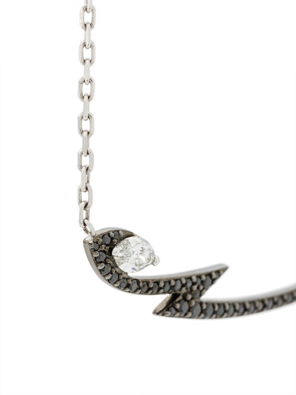 Stephen Webster 18kt white gold Lady Stardust marquise diamond pendant necklace - Metallic IbVBJU