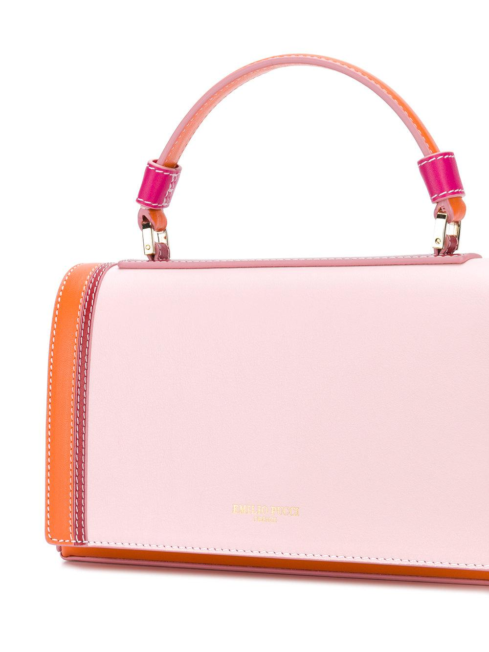 blockcolour flap tote bag - Pink & Purple Emilio Pucci