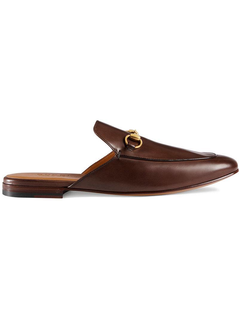 58f399d354f Gucci Leather Horsebit Slipper in Brown for Men - Lyst