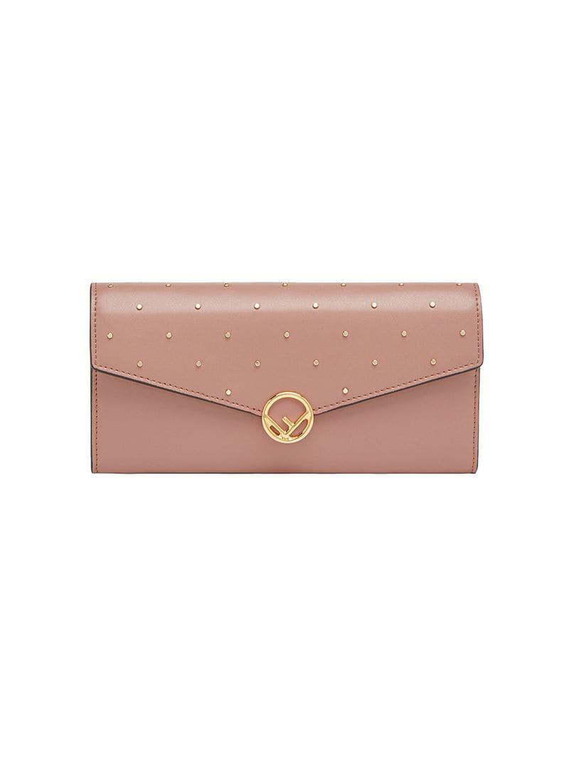 66ea6a01023d Lyst - Fendi F Continental Chain Wallet in Pink