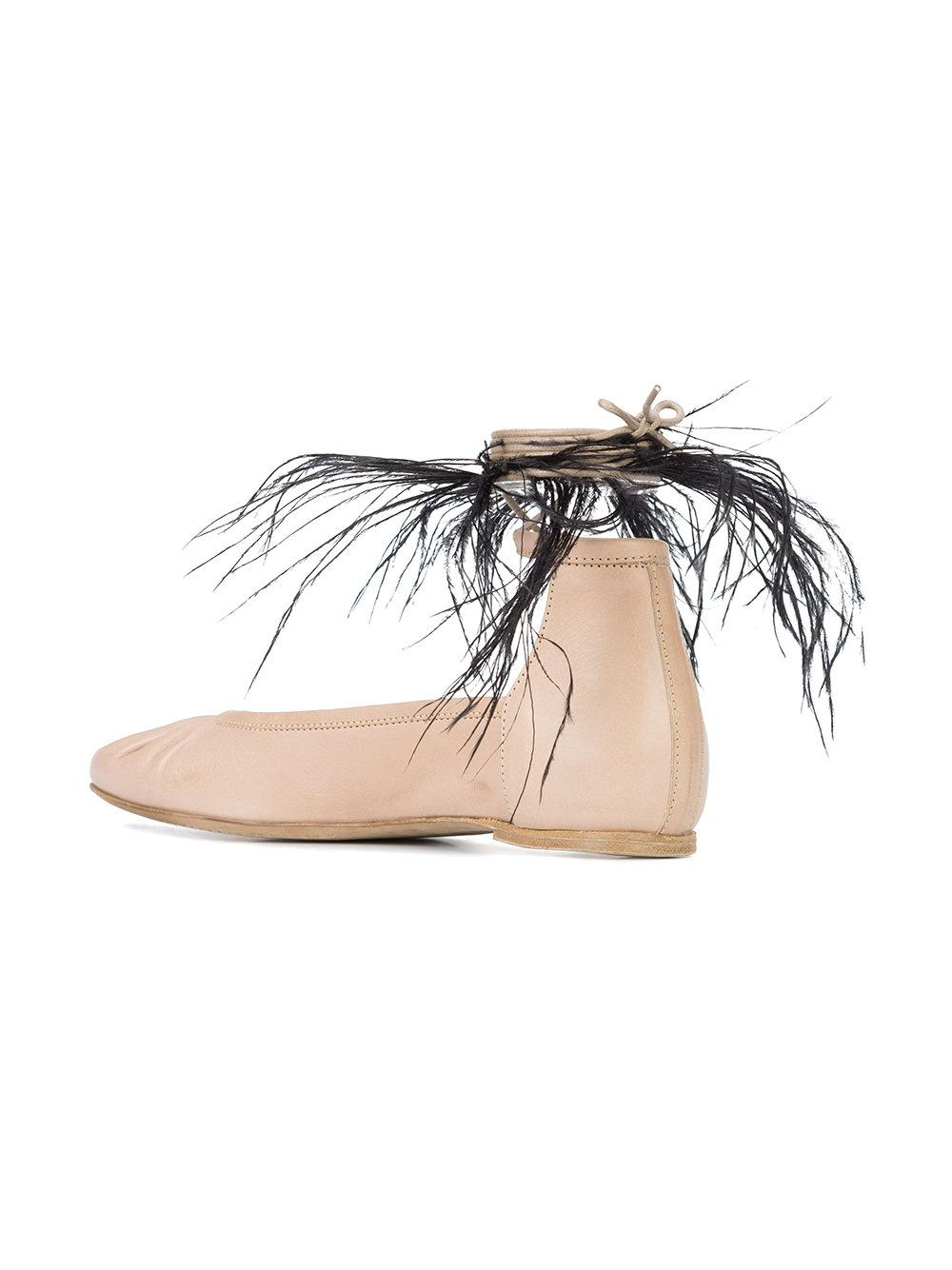 feather detail ballerinas - Nude & Neutrals Ann Demeulemeester DlqNe