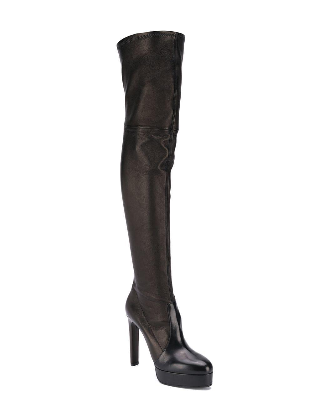 The Lyst Casadei Knee Boots Over In Black ZwSxqawO