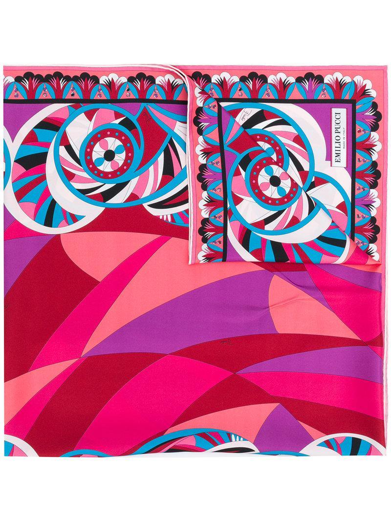 abstract stars print scarf - Multicolour Emilio Pucci 0urj8a8u