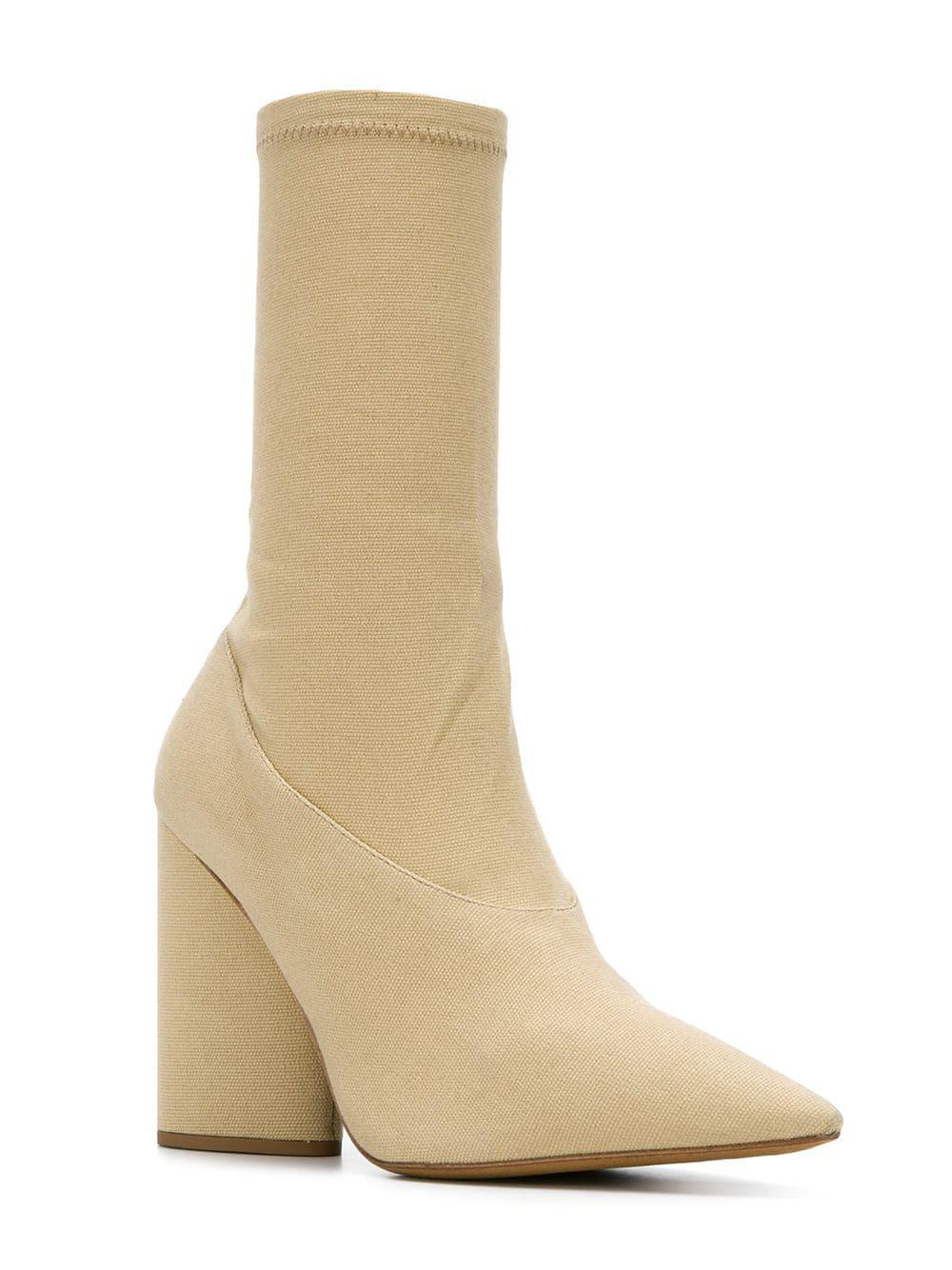 0bbbd71da20 Lyst - Yeezy Knitted Ankle Boots in Natural - Save 4%