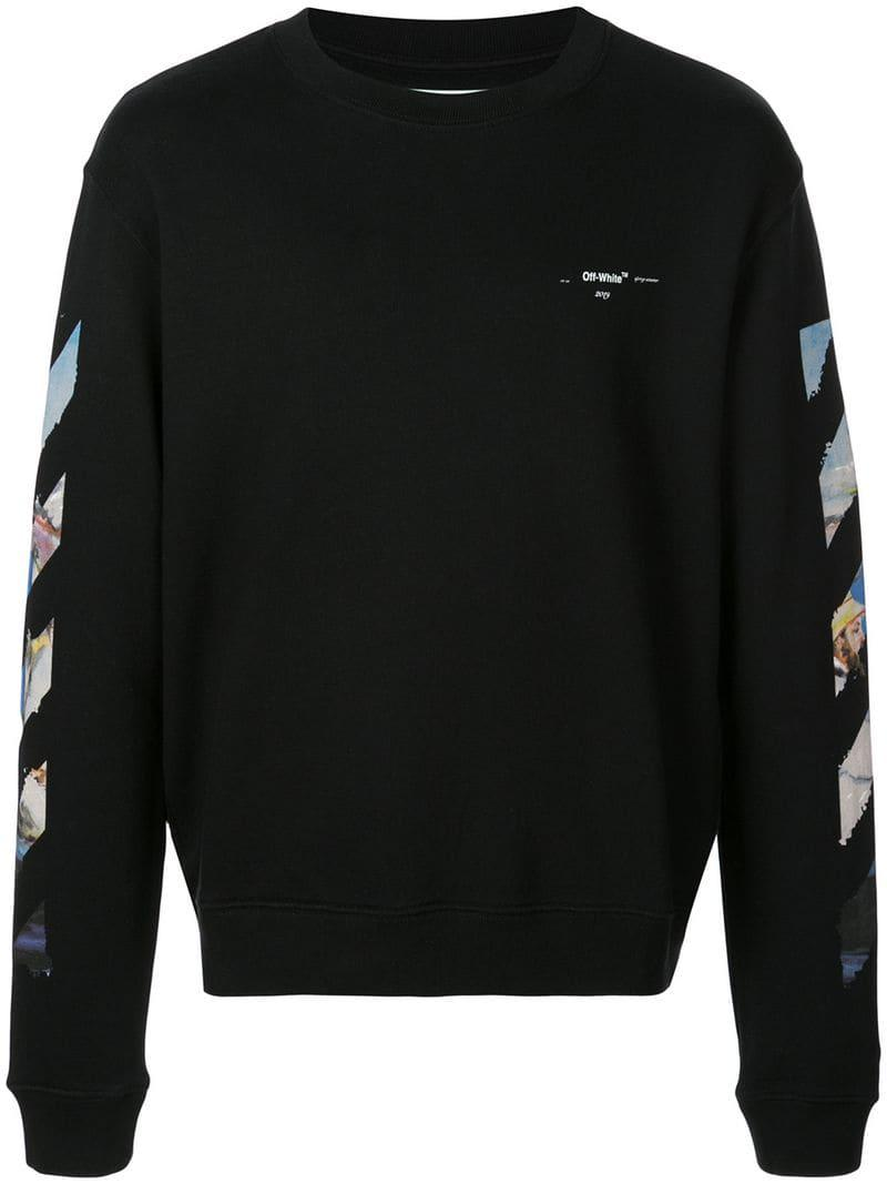 7e7ab0f72598 Lyst - Off-White c o Virgil Abloh Arrows Sweatshirt in Black for Men ...
