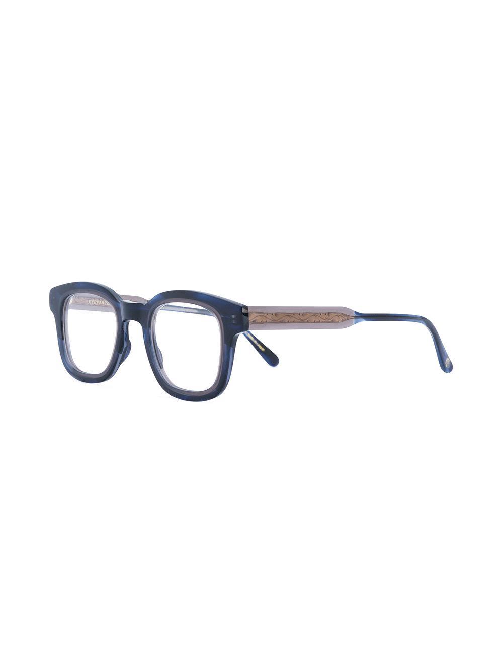 4a95c4cdb5 Eyevan 7285 Marbled Effect Glasses in Black - Lyst