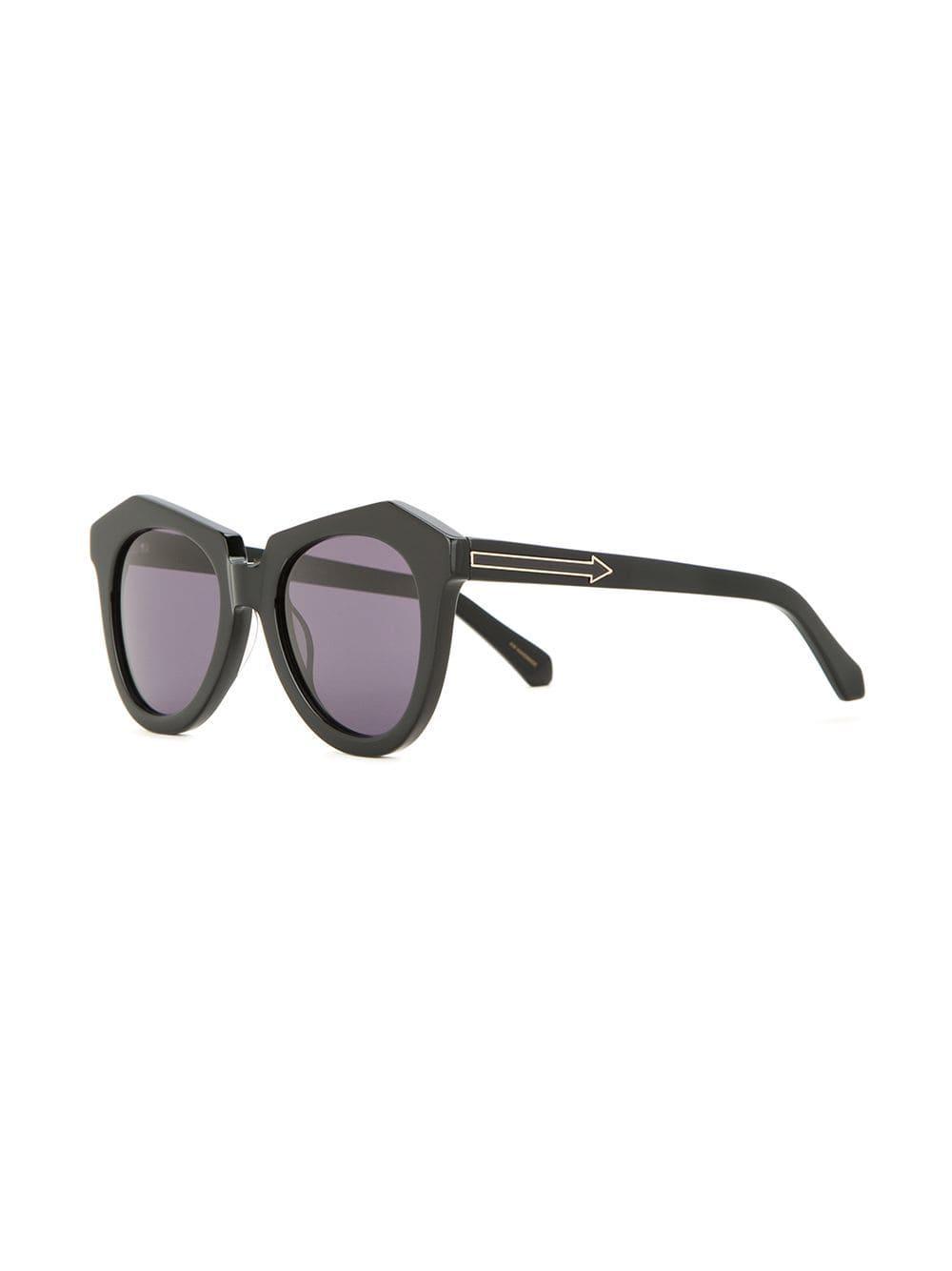 417689a3a051 Lyst - Karen Walker Number One Sunglasses in Black